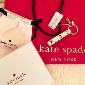 kate spade Accessories - KATE SPADE Studded Lanyard Key Fob Bag Box Pouch